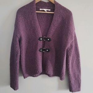Max Studio wool mix cardigan sweater snap closure